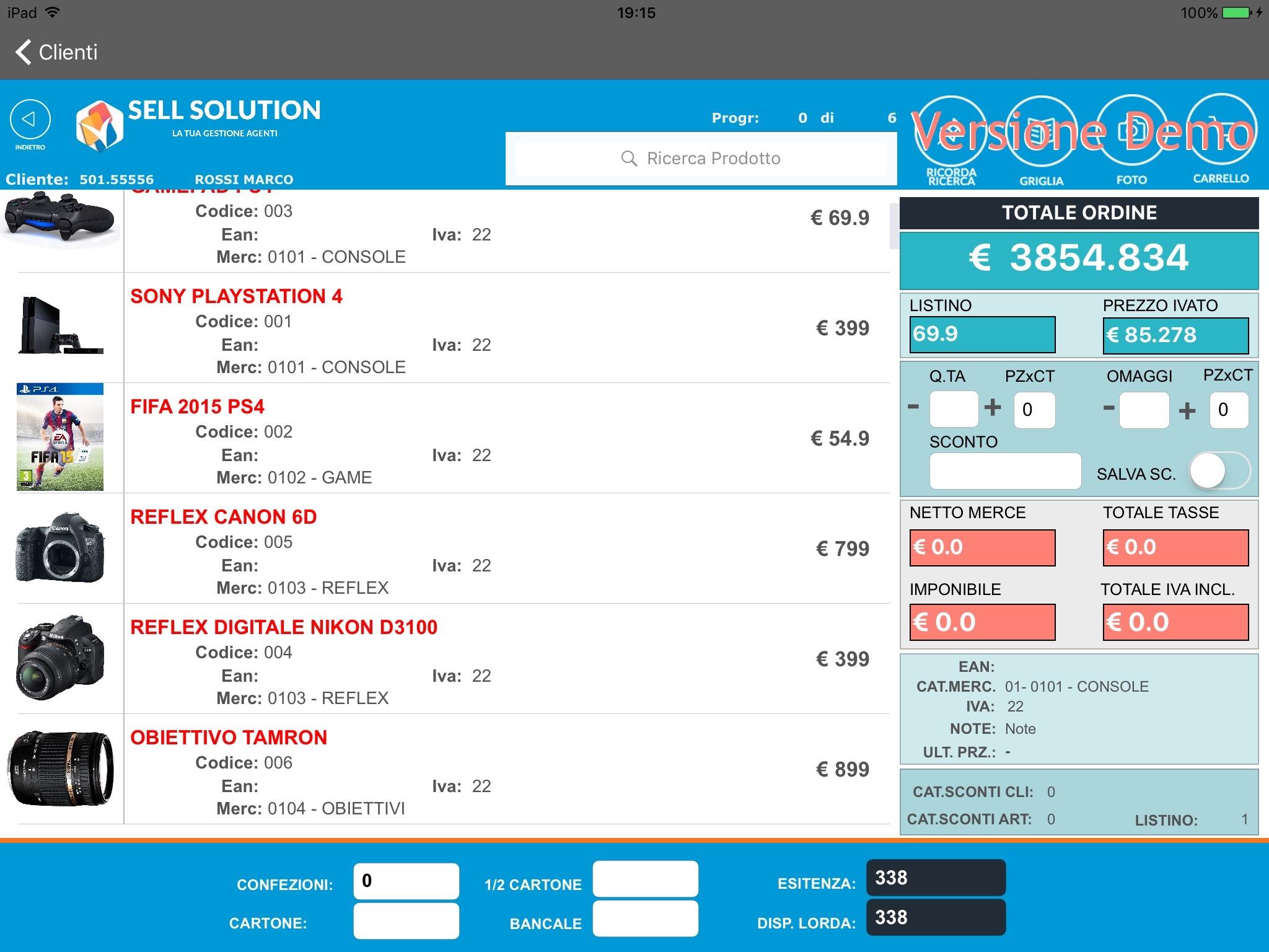 Sell Solution, gestione agenti, raccolta ordini iPad, strumenti di vendita